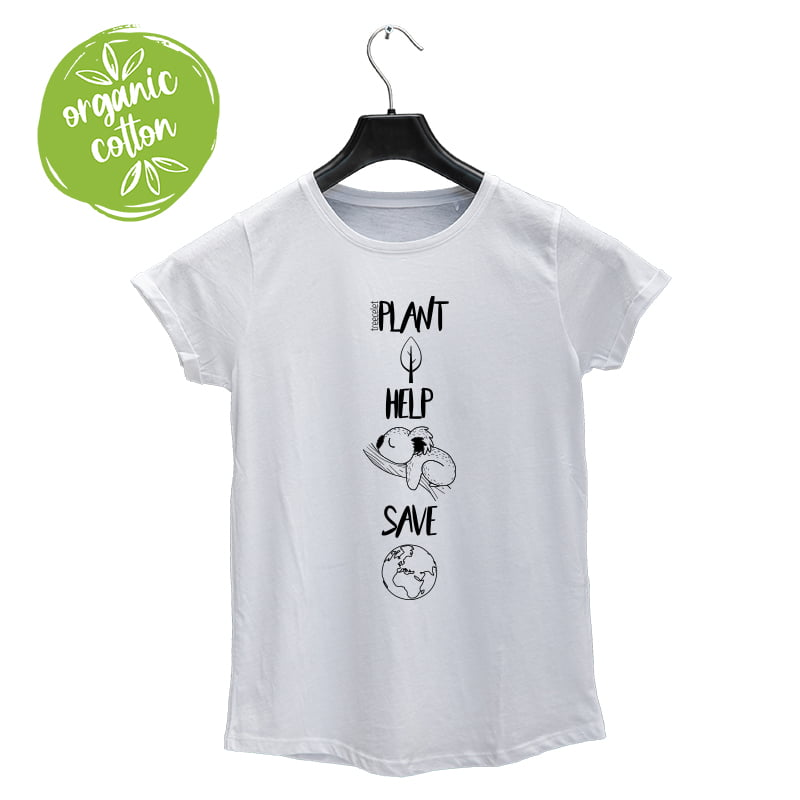 T-Shirt for women – Plant, Help, Save